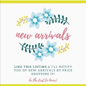 Like to be notified of new arrivals 🦋✨